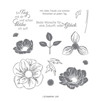 FLORALE FREUDE PHOTOPOLYMER STAMP SET (GERMAN)