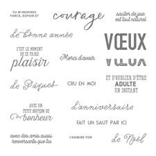 Au-Delà des Mots Photopolymer Stamp Set (French)