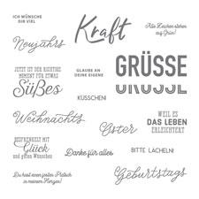 Wortreich Photopolymer Stamp Set (German)