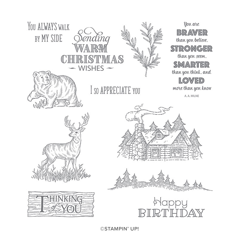 RUSTIC RETREAT CLING STAMP SET