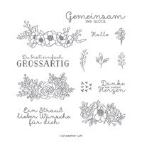 STRAUSS LIEBER WÜNSCHE PHOTOPOLYMER STAMP SET (GERMAN)