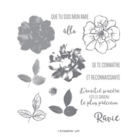 ROSE SAUVAGE PHOTOPOLYMER STAMP SET (French)