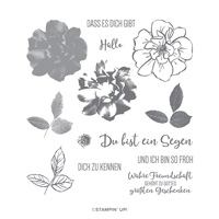 WILDE ROSE PHOTOPOLYMER STAMP SET (GERMAN)