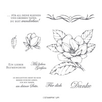 MAGNOLIENGRUSS CLING STAMP SET (GERMAN)
