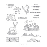 REFUGE RUSTIQUE CLING STAMP SET (FRENCH)