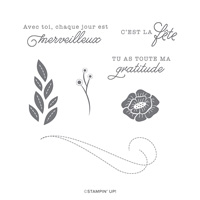 FEUTRINE D'AMOUR CLING STAMP SET (FRENCH)