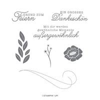 FILZ UND FREUDE CLING STAMP SET (GERMAN)