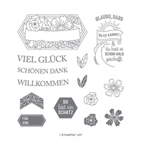 SCHÖNE GRÜSSE HOST PHOTOPOLYMER STAMP SET (GERMAN)