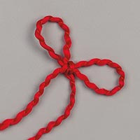 REAL RED 1/8 (3.2 MM) CURLY RIBBON