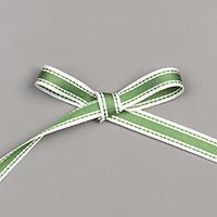 GARDEN GREEN 3/8 (1 CM) DOUBLE-STITCHED RIBBON