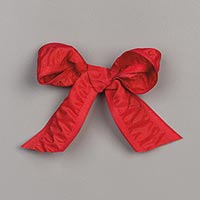 REAL RED 1 (2.5 CM) RUCHED RIBBON