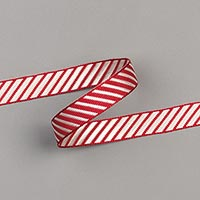 CHERRY COBBLER 3/8 (1 CM) DIAGONAL STRIPE RIBBON