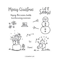 SNOWMAN SEASON PHOTOPOLYMER STAMP SET (EN)