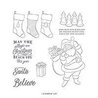 HOLLY JOLLY CHRISTMAS CLING STAMP SET