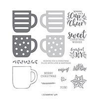 CUP OF CHRISTMAS PHOTOPOLYMER STAMP SET