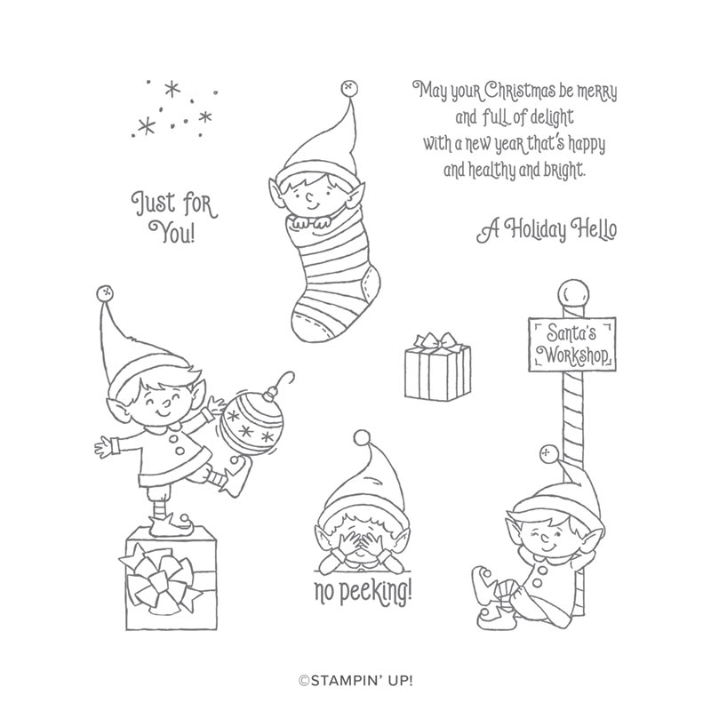 #ELFIE CLING STAMP SET (EN)