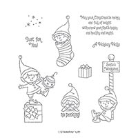#ELFIE CLING STAMP SET