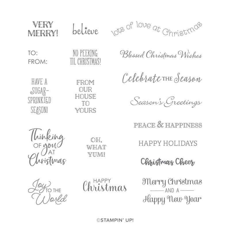 ITTY BITTY CHRISTMAS CLING STAMP SET (EN)
