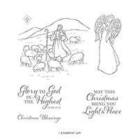 LIGHT & PEACE CLING STAMP SET