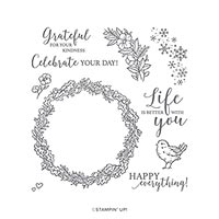 SEASONAL WREATHS PHOTOPOLYMER STAMP SET