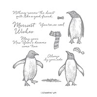 PLAYFUL PENGUINS CLING STAMP SET
