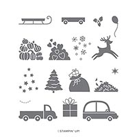 HOLIDAY HAUL HOST PHOTOPOLYMER STAMP SET