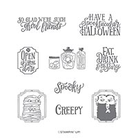 SPOOKTACULAR BASH CLING STAMP SET