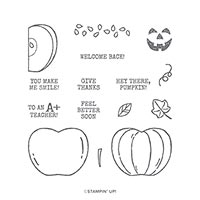 HARVEST HELLOS CLING STAMP SET
