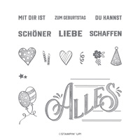 EINFACH ALLES PHOTOPOLYMER STAMP SET (GERMAN)