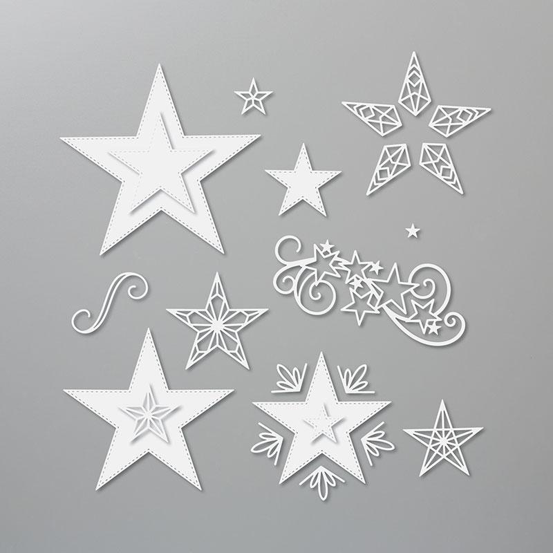 Bestickte Sterne