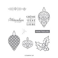 FESTTAGSGLANZ CLING STAMP SET (DE)