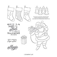 JOIE DE NOËL CLING STAMP SET (FR)