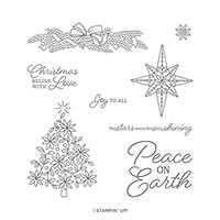 SHINE BRIGHT CLING STAMP SET