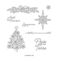 ÉTOILES BRILLANTES CLING STAMP SET (FR)