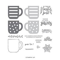 UNE TASSE DE NOËL PHOTOPOLYMER STAMP SET (FR)