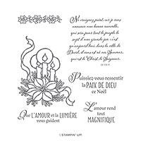 LA PAIX DE DIEU CLING STAMP SET (FR)