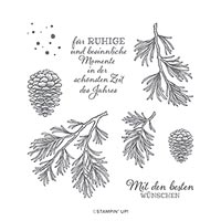 FRIEDVOLLE ZWEIGE CLING STAMP SET (DE)