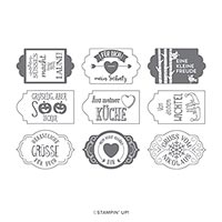 ETIKETTEN-MIX PHOTOPOLYMER STAMP SET (DE)