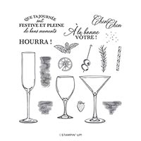 LEVONS NOS VERRES PHOTOPOLYMER STAMP SET (FR)