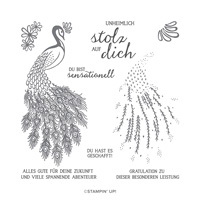 FANTASTISCHER PFAU PHOTOPOLYMER STAMP SET (GERMAN)