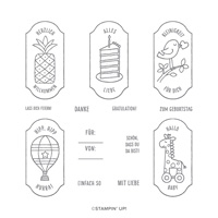 ALLES AUF ANHANG HOST CLING STAMP SET (GERMAN)