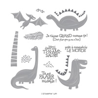 ÉPOQUE JURASSIQUE PHOTOPOLYMER STAMP SET (FRENCH)