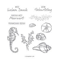 MIT MEERWERT CLING STAMP SET (GERMAN)