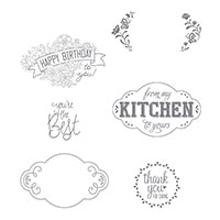 Label Me Pretty Cling-Mount Stamp Set