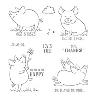 This Little Piggy Cling-Mount Stamp Set