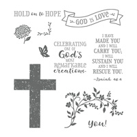 Hold On To Hope Cling-Mount Stamp Set