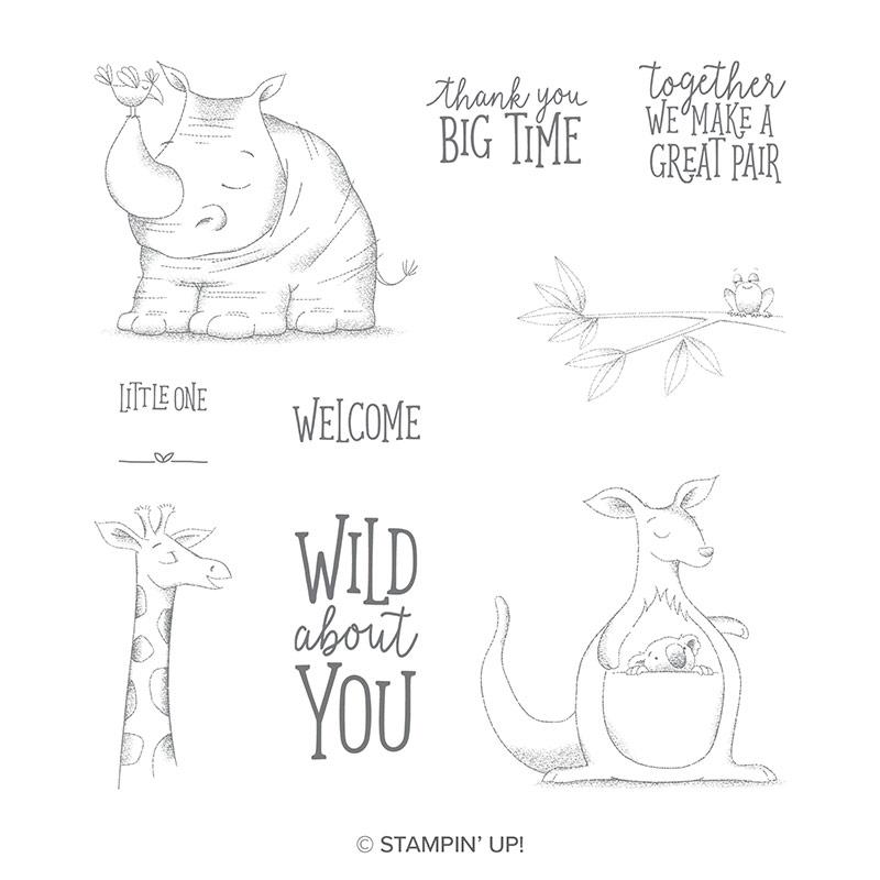 Animal Outing Cling-Mount Stamp Set