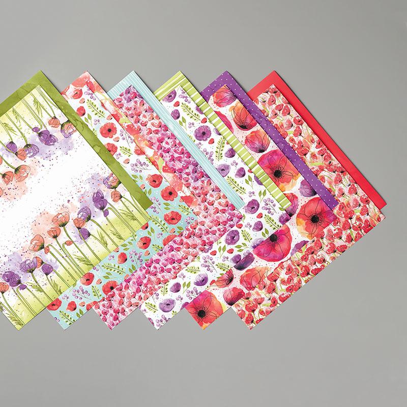 Painted Poppies Designer Series Paper