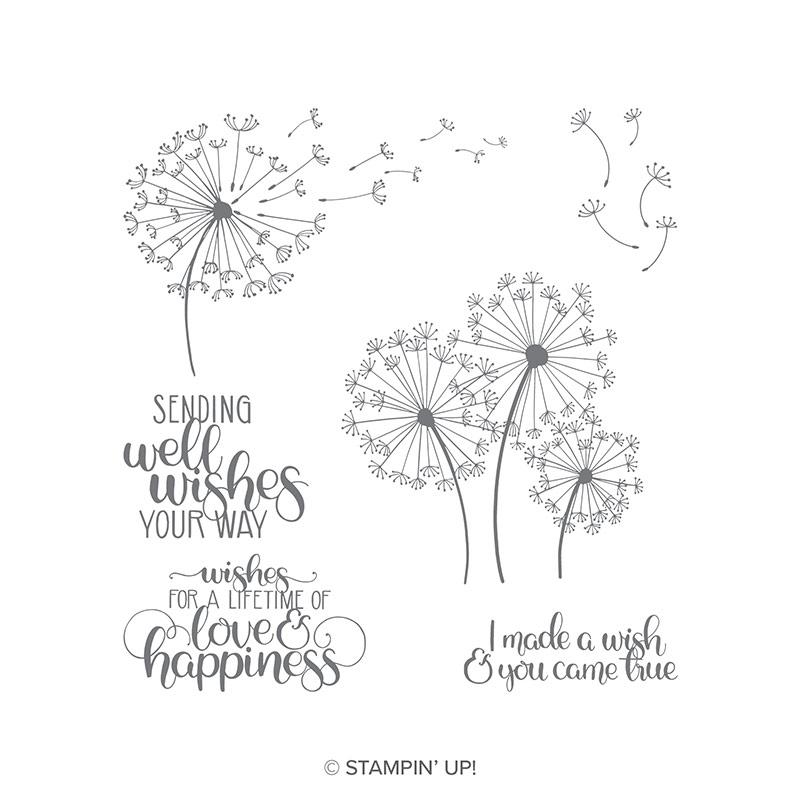 Dandelion Wishes Cling-Mount Stamp Set
