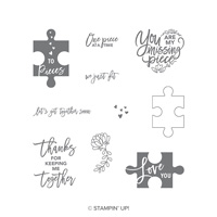 Love You To Pieces Cling-Mount Stamp Set